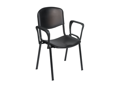 Cheap Sunflower Venus Visitor Chair With Arms | Visitors & Waiting Room Chairs | Sun-SEAT2/Black | Sunflower Medical