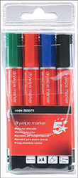 Cheap Dry Wipe Bullet Markers Assorted Colours | Whiteboard & Flipchart Markers |  |