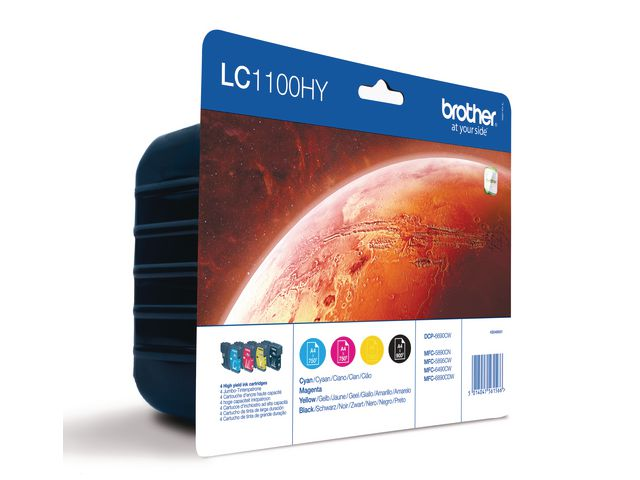 Great Value Brother LC1100 High Capacity Ink Cartridge Multipack | Brother | LC1100VALBP | Brother