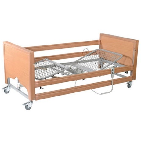 Cheap Classic FS in Beech with Metal Mesh and Side Rails | Care Beds |  |
