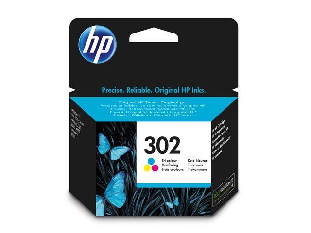 Great Value HP No.302 Ink Cartridge Tri-Colour | Hewlett Packard | F6U65AE | Hewlett Packard