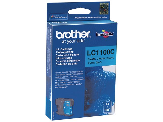 Great Value Brother LC1100C InkJet Print Cartridge Cyan | Brother |  |