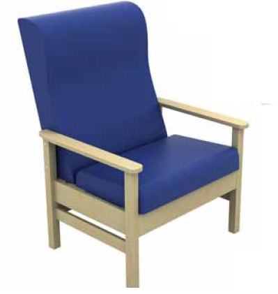 Cheap Atlas High-Back Bariatric Arm Chair With Wings Vinyl Fabric | Visitors & Waiting Room Chairs | Sun-CHA56/VYL | Sunflower Medical