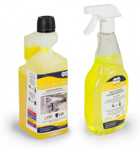 Cheap Concentrated Multi-Surface Cleaner & Degreaser 1 Litre (Yellow) | Multi Surface Cleaners | ECOYELLOW | Trichem