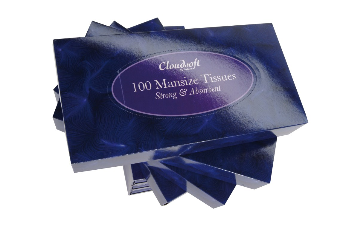 Cheap White 2 Ply Mansize Facial Tissues | Tissues |  | Cloudsoft