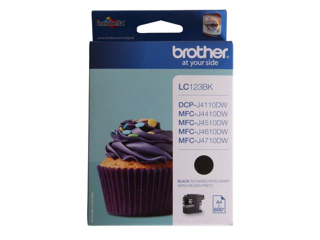 Great Value Brother LC123 Ink Cartridge Black | Brother | LC123BK | Brother