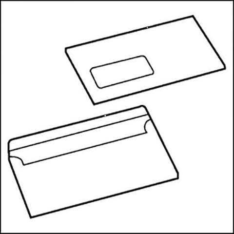 Cheap DL White Window Envelopes 80gsm, Self Seal | White Business Envelopes |  |