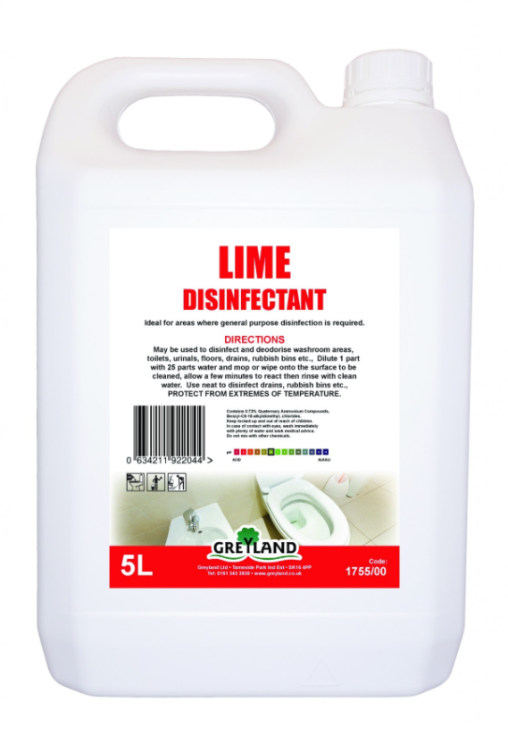 Great Value Lime Disinfectant Liquid 5 Litre- Pack of 1 | Washroom Cleaners |  |