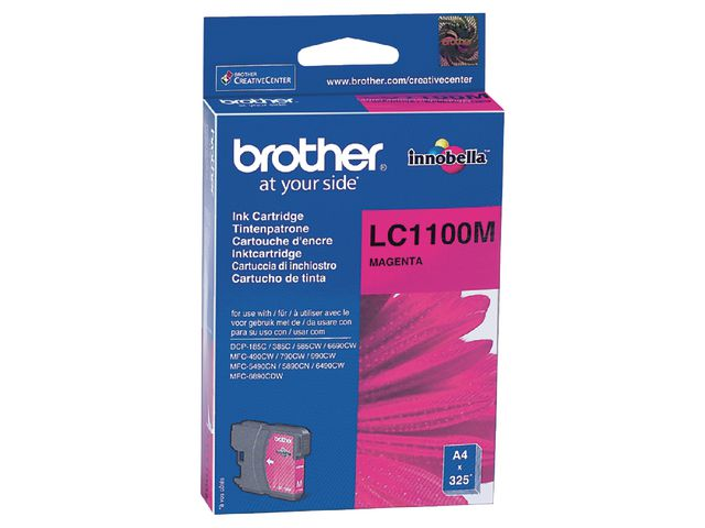 Great Value Brother LC1100M InkJet Print Cartridge Magenta | Brother |  |