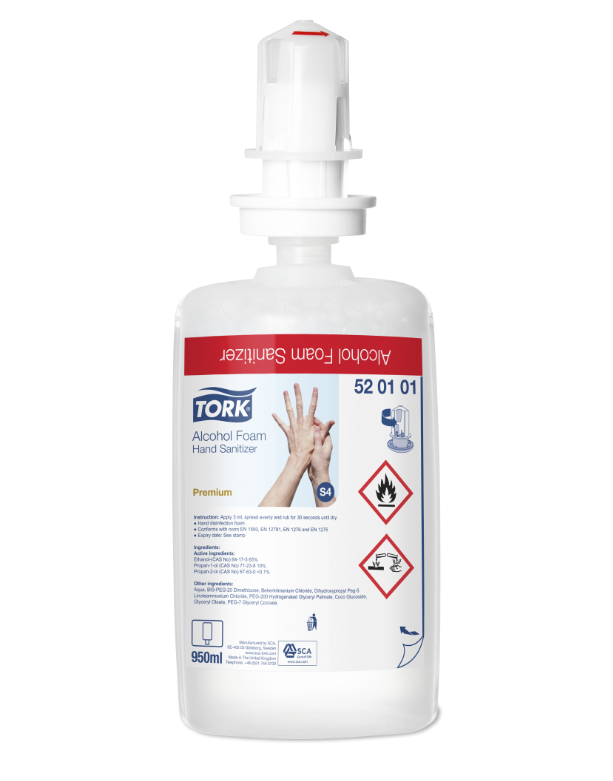 Great Value Tork Foam Hand Sanitiser | Hand Sanitisers | 52.01.01 | Tork
