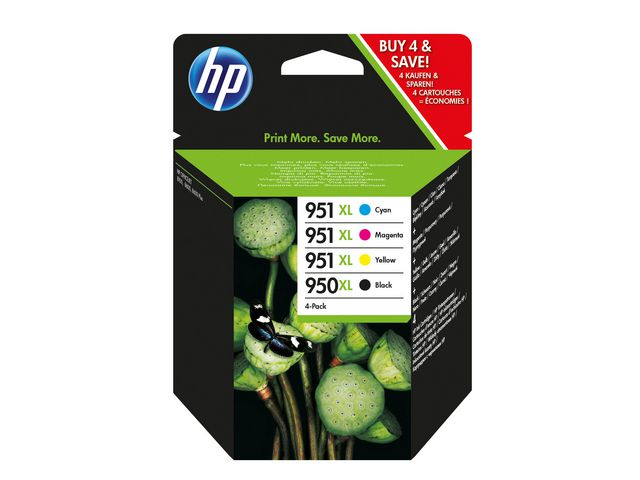 Great Value HP No.950 & 951XL High Capacity Cartridge HP No.950 & 951XL High Capacity Cartridge Combo Pack | Hewlett Packard | C2P43AE | Hewlett Packard