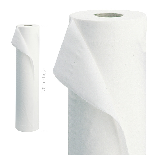 "Cheap Luxury White 2 Ply 20"" Couch Rolls 