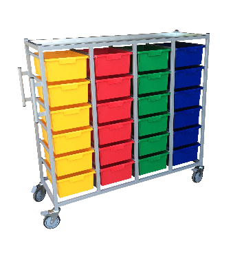 Cheap 4 Tier Kari Carts 24 Trays Ea | Linen and Laundry Management |  |