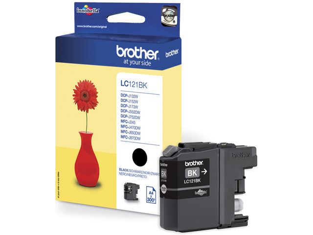 Great Value Brother LC121 Ink Cartridge Black | Brother | LC121BK | Brother