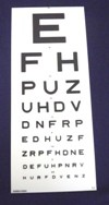 Cheap Snellen 6m Panel 7.5 Line Vision Test | Vision Tests | SDT-357-DVLA | Sussex Vision