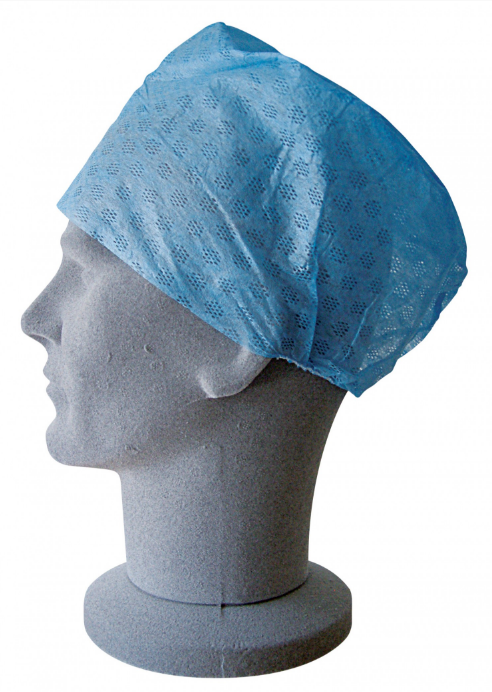Great Value Disposable Theatre Caps - Blue | Overshoes and Hair Covers | UN91230 | Shermond