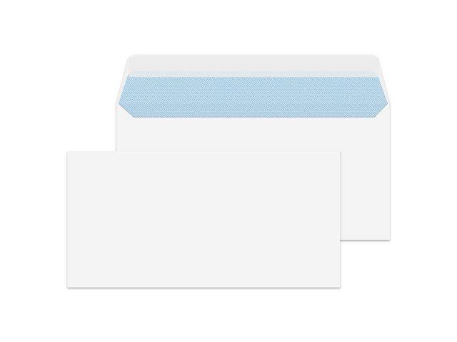 Great Value Wallet Peel and Seal White Envelope, DL 110 x 220 mm 100 gsm | White Business Envelopes | 2388250PR | Staples