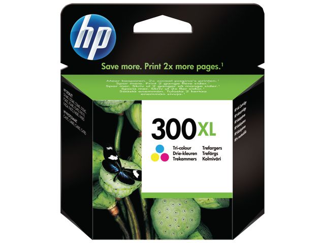 Great Value HP No.300XL High Capacity Ink Cartridge Tri-Colour | Hewlett Packard | CC644EE | Hewlett Packard