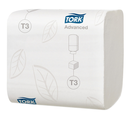 Cheap Tork Folded Toilet Paper (242 sheets) White Advanced 2ply - T3 | Toilet Rolls & Tissues |  |