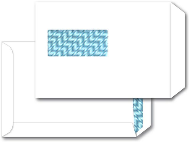 Great Value C5 White Window Envelopes 100gsm, Peel and Seal | White Business Envelopes | 5249304 | Staples