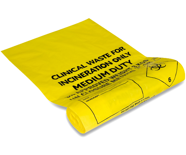 Cheap Yellow Clinical Waste Sacks Medium Duty (20 Litres) | Clinical Waste Bags |  |
