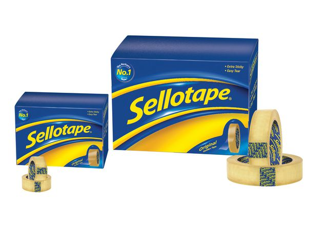 Great Value Sellotape Original Golden Tape 24mm x 66m | Clear Sticky Tape | 36 | Sellotape