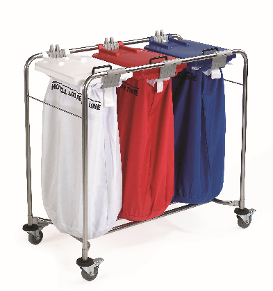 Great Value 3 Bag Laundry Trolleys Colour Coded Lids | Linen and Laundry Management |  |