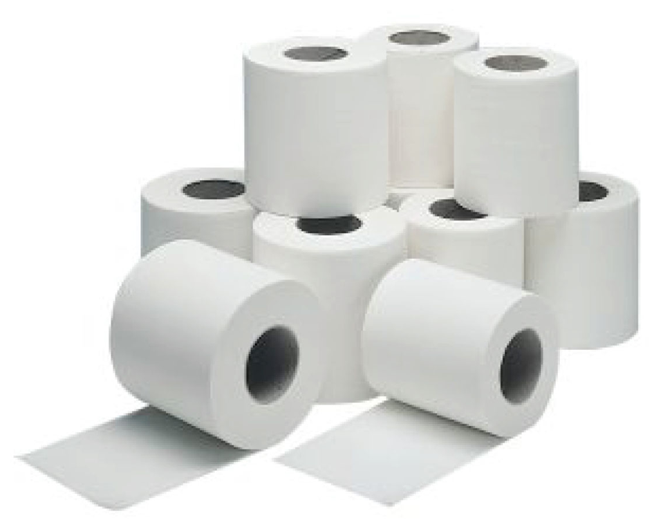 Cheap Standard 2 Ply 320 Sheet Toilet Rolls Pack of 72 | Toilet Rolls & Tissues | FAC/TOI/006 | Medical Supermarket