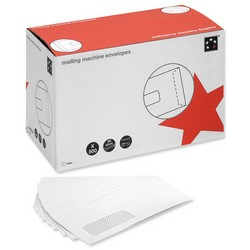 Cheap Mailing Machine Wallets 114 x 235mm, White, Window | White Business Envelopes |  |