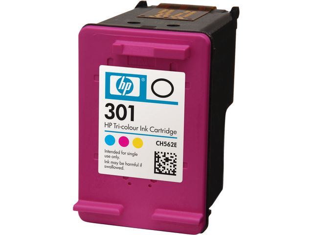 Great Value HP No.301 Ink Cartridge Tri-Colour | Hewlett Packard | CH562EE | Hewlett Packard