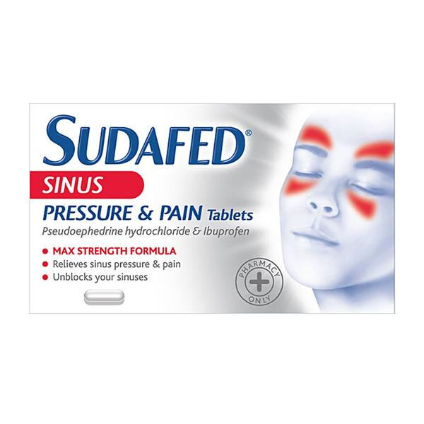 Great Value (POM) Sudafed Sinus Pressure and Pain Tablets | P-Z |  |