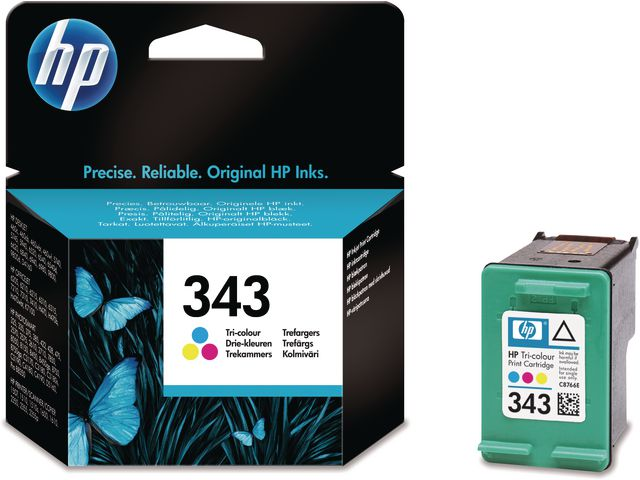 Great Value HP No.343 Tri-Colour Ink Cartridge Single Pack | Hewlett Packard | C8766EE | Hewlett Packard