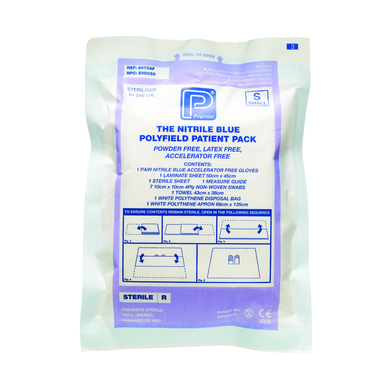 Great Value Polyfield Nitrile Patient Pack Large | Single Use Packs | PM6077AF | Shermond