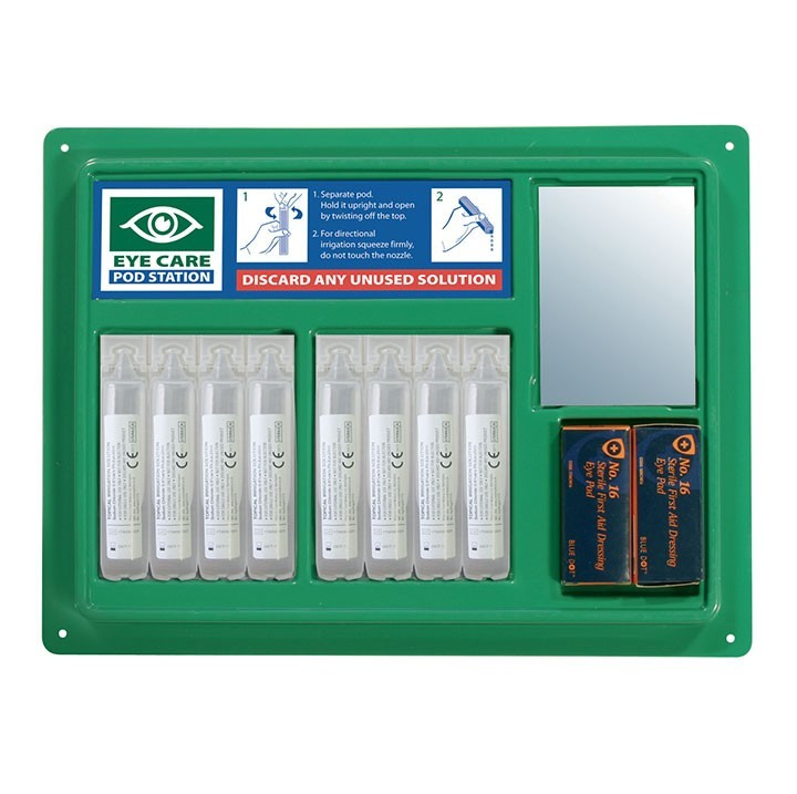 Great Value Eye Pod Station with Mirror and Sign | First Aid Kits & Supplies |  | Medical Supermarket