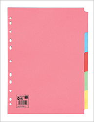 Cheap A4 Subject Dividers 5 Part | Dividers & Indices |  |