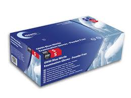 Blue Nitrile Powder Free Exam Gloves Medium | Medical Supermarket