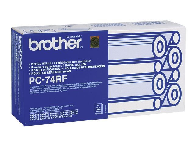 Great Value Brother PC-74RF Original Thermal Fax Ribbon Black | Brother |  |