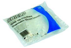 Cheap Smooth Polythene Disposable Gloves Blue | Gloves |  | Shield