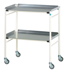 Halifax Trolley with 2 Aluminium Shelves 760 x 460mm | Medical Supermarket