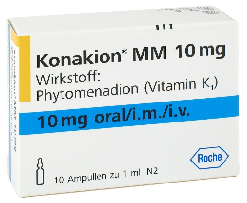 Great Value (POM) Konakion 10mg  / 1ml Amp Pack of 10 | I-O | 2139483 |