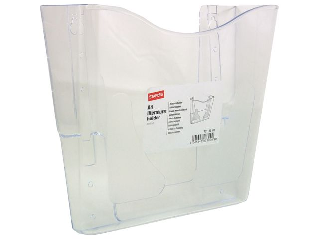 Great Value Clear A4 Portrait Wall Literature Holder | Literature Holders | 7358705 | Staples