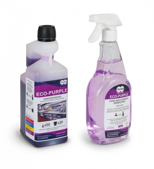 Cheap Concentrated Food Safe Cleaner & Sanitiser 1 Litre (Purple) | Kitchen Cleaners | ECOPURPLE | Trichem