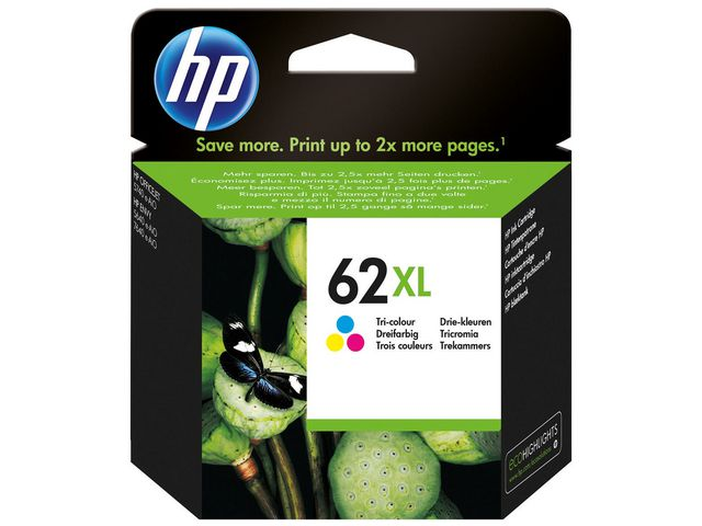 Great Value HP No.62XL Tri-Colour Ink Cartridge | Hewlett Packard | C2P07AE | Hp