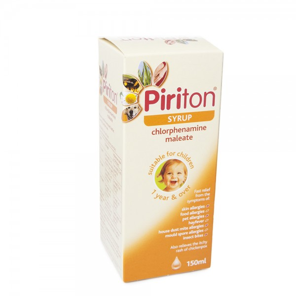 Great Value (P) Piriton Syrup 2MG/5ML, 150ml | P-Z | PIR14C |