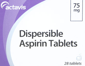 Great Value (POM) Dispersible Aspirin tablets (POM) Dispersible Aspirin tablets 75mg | A-C |  |