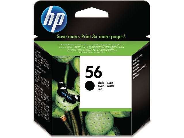 Great Value HP No.56 Black Ink Cartridge Single Pack | Hewlett Packard | C6656A | Hewlett Packard