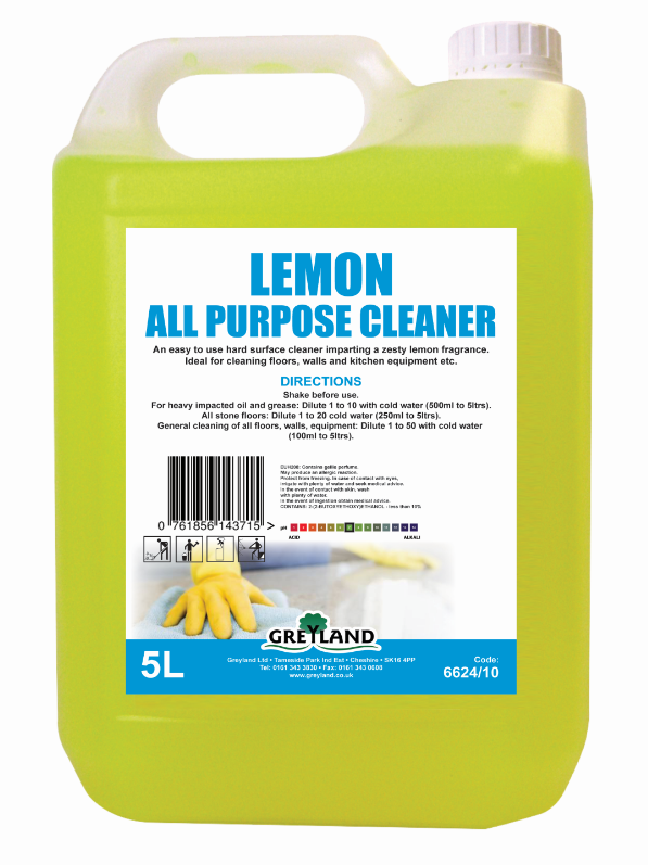 Lemon All Purpose Cleaner 5 Litre Pack of 1 | Medical Supermarket