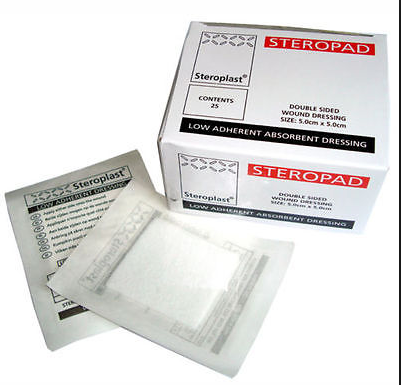 Great Value Steroplast Low Adherent Dressing 7.5cm x 7.5cm | Dressings | 3007 | Steroplast