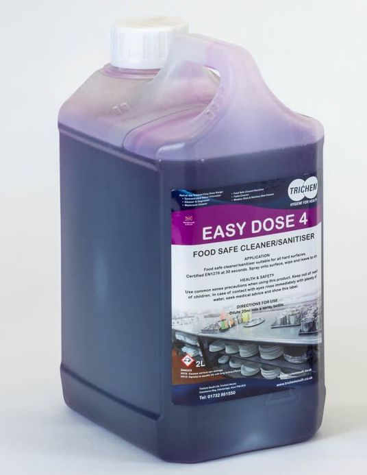 Great Value Easy Dose Dosing System Steri-Kleen Concentrate Cleaner/Sanitiser 2Ltr | Dosing System Products | ED4-2X2 | Trichem