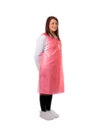Cheap Aprons in a Dispenser Pack Red | Aprons |  | Medical Supermarket